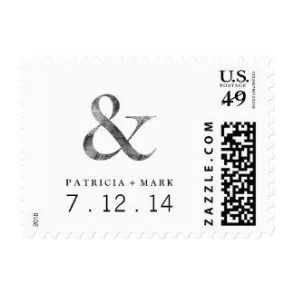 Big Caslon Medium Black Letterpress Grain Postage Stamp