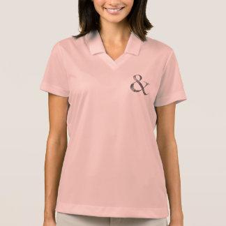 Big Caslon Medium White Letterpress Grain Polo Shirt
