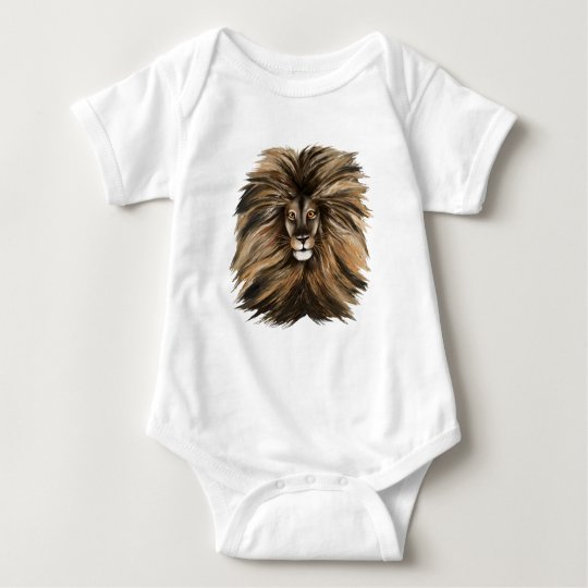 Big Cat and Colorful Jungle Baby Bodysuit