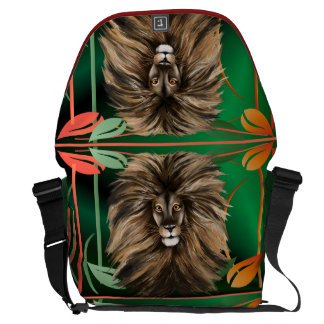 Big Cat and Colorful Jungle Courier Bag