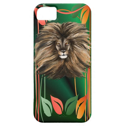 Big Cat and Colorful Jungle iPhone 5 Cases