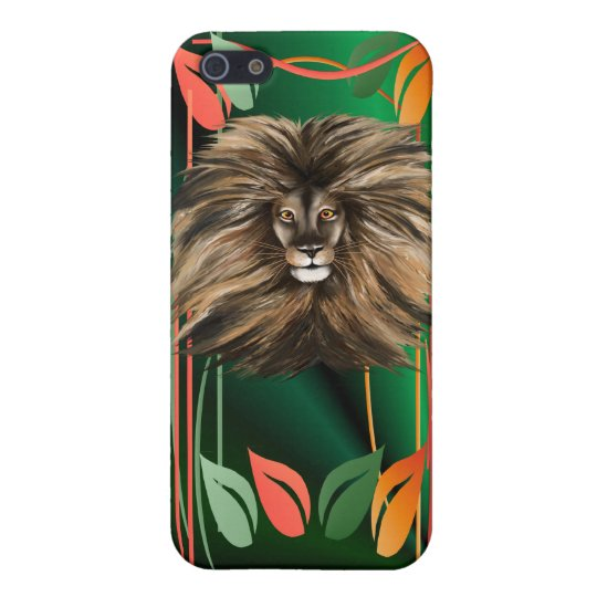 Big Cat and Colorful Jungle iPhone SE/5/5s Case