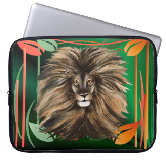 Big Cat and Colorful Jungle-Laptop Sleeves Computer Sleeve