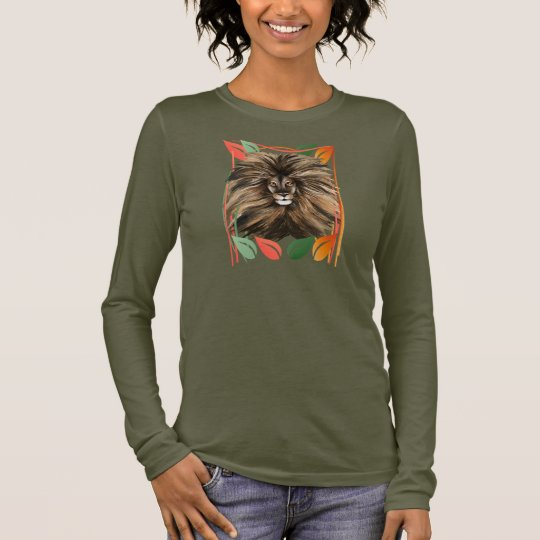 Big Cat and Colorful Jungle Long Sleeve T-Shirt
