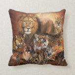 Big Cat Art Designer Pillow