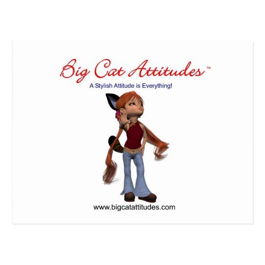 Big Cat Attitudes Distributor Postcard