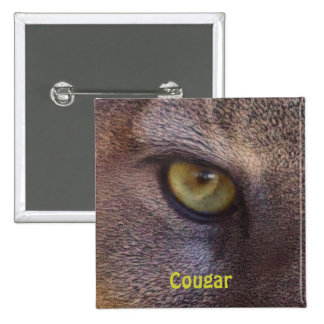 Big Cat Cougar Eye Wildlife-lovers Button