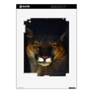 Big Cat Cougar Mountain Lion Art Design Decals For The iPad 2