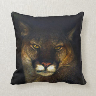 Big Cat Cougar Mountain Lion Art Design Throw Pillow