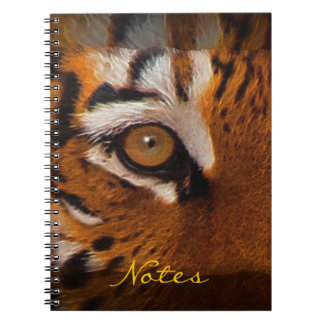 Big Cat Eye of Tiger Wildlife Art Notebook