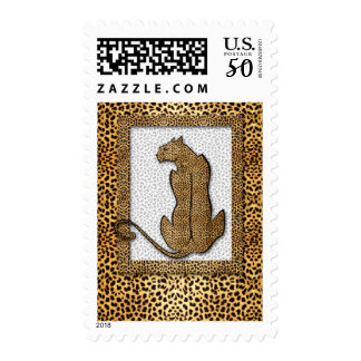 Big Cat Framed Cheetah Print Postage