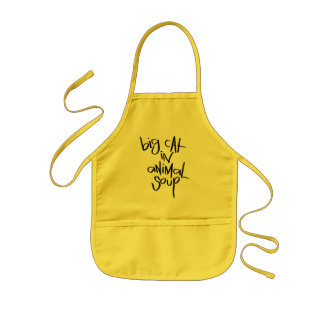 Big Cat In Animal Soup Aprons