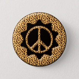 BIG CAT PEACE SIGN BUTTON