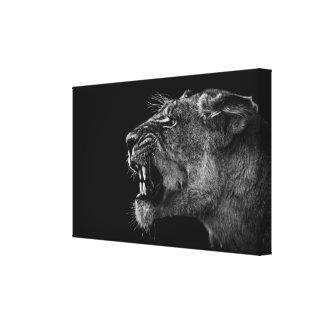 Big Cat Premium Wrapped Canvas (Gloss) Canvas Print