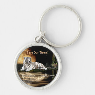 Big Cat Rare White Tiger Collection Key Chains