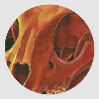 Big Cat Skull: Caracal Lynx study Classic Round Sticker