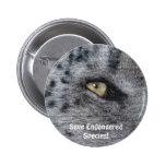 BIG CAT Snow Leopard Endangered Species Button