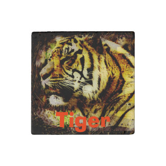 Big Cat Sumatran Tiger Wildlife Photo Art Stone Magnet