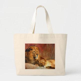 Big Cats - 6 Large Tote Bag