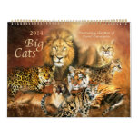 Big Cats Art Calendar 2014