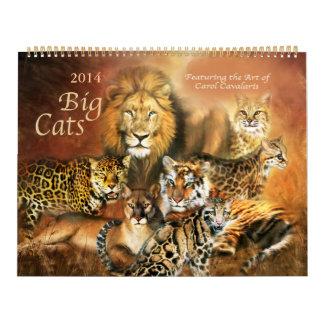 Big Cats Art Calendar 2014
