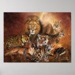 Big Cats Art Poster/Print Poster
