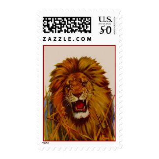 Big Cats Cat King Lion Roaring Lions POSTAGE STAMP