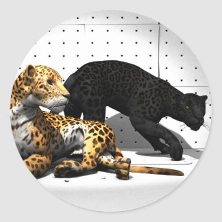 Big Cats - Leopards Classic Round Sticker