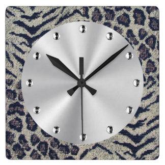 Big Cats Square Wall Clock