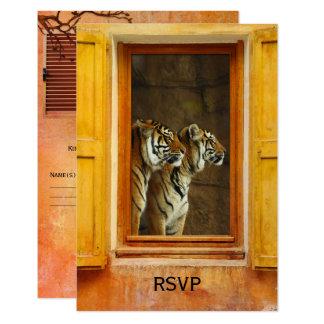 Big Cats Tiger Exotic Wedding RSVP Card