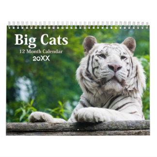 Big Cats Wildlife Calendar 2017