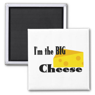 Big Cheese 2 Inch Square Magnet