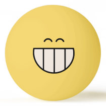 Big Cheesy Grin Ping Pong Ball