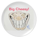 """Big Cheesy"" Melamine Cartoon Plate"