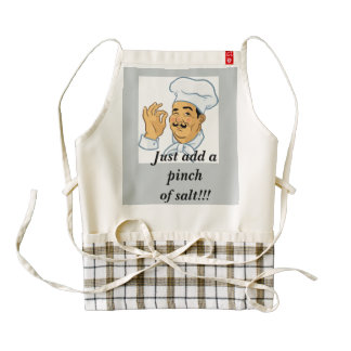 """Big Chef Cooking Apron """"Just Add A Pinch of Salt"""""""