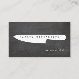 Chef business cards templates zazzle big chef knife logo 2 for personal chef catering business card colourmoves