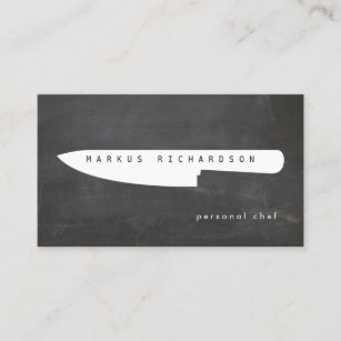 Chef business cards zazzle big chef knife logo 2 for personal chef catering business card colourmoves