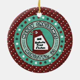Big Chicken Christmas Ornament