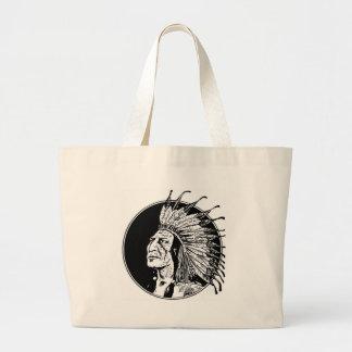 big chief ring large tote bag