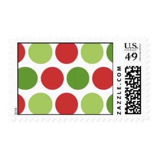 Big Christmas Polka Dots Postage