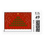 Big Christmas Tree Postage Stamps