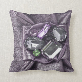 Big Chunky Purple Faux Jeweled Mojo Pillow