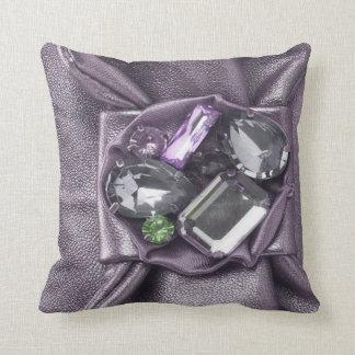 Big Chunky Purple Faux Jeweled Mojo Pillow