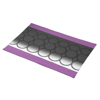 BIG CIRCLES WITH PURPLE TRIM PLACEMATS