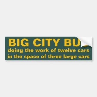 Big City Bus Bumper Sticker