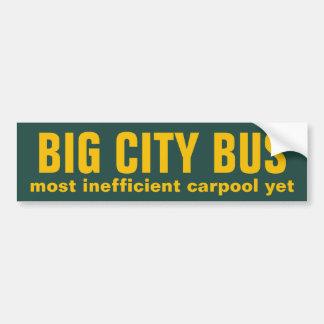 Big City Bus Car Bumper Sticker