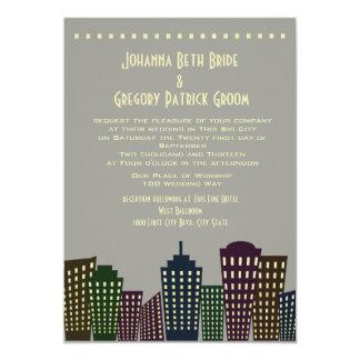 Big City Dreaming Modern Wedding Card
