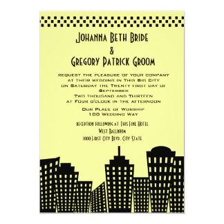 Big City Dreams Modern Wedding Card