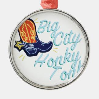 Big City Honky Tonk Metal Ornament
