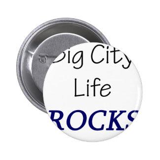 Big City Life Rocks Pinback Button